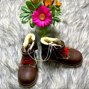 Toddler Faux Leather Brown Boots Size 7/8